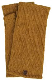 Fleece lined wristwarmer - Plain - Mustard