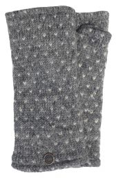 Fleece lined wristwarmer - tick - Mid Grey