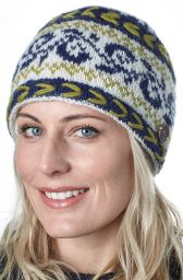 Alpine beanie - blue green