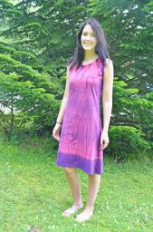 Tie Dye - Shift Dress - Pink
