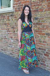Tropical Print - Halter Neck Dress - Green