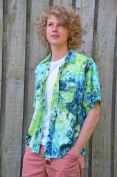 tie dyed shirt - green/blue
