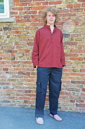 Sharma Shirt - Maroon/Black