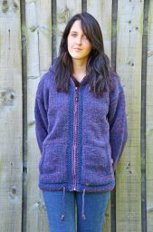 double border - hooded jacket - Heather Blue