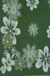 Floral - Blanket/shawl - Green