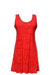 Interlocking patterns - lightweight racerback tunic - red