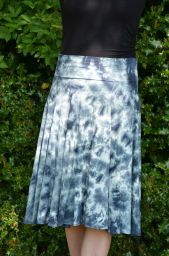 Tie dye - midi skirt - ink blues