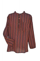 Light weight - Striped Cotton Shirt - Browns Multi