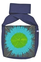 Sunburst - long handled bag - blue