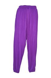 Plain Harem Trousers - bright purple