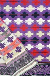Maltese - Blanket/shawl - Berry M/C