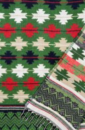 Maltese -  Blanket/shawl - Green M/C
