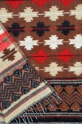 Maltese -  Blanket/shawl - Brown M/C