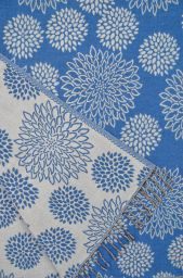 Chrysanthemum - Blanket/shawl - Blue