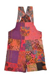 Summer patchwork - dungarees - soft coral