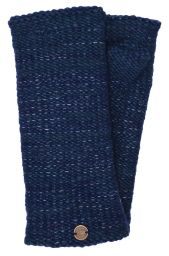 Fleece lined - Fine Wool Mix - wristwarmer  - Blue