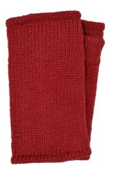 Children's Fleece Lined plain Wristwarmers - Red
