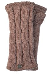 Fleece lined wristwarmer - cable - Blush