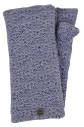 Fleece lined - textured - wristwarmers - allure