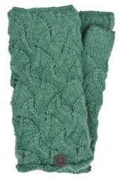 Naya - hand knitted - scroll - wristwarmer - bluegrass