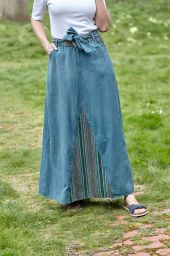 Denim - Gheri Insert - Maxi Skirt