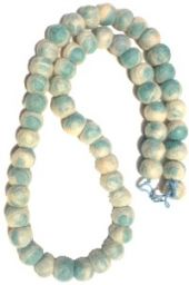 Tie Dye Necklace - pale grey/Blue