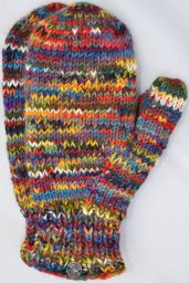 Fleece lined mittens - Electric - multi