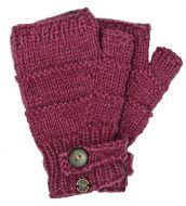 Fleece lined - half mitt - ridge - Rose c3aca79c402a