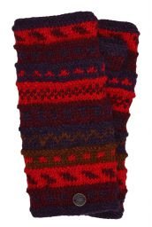 NAYA - hand knit - pattern - wristwarmer - red/rust