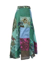Jaipuri - Patchwork Skirt - Summer Blues