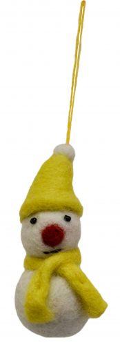 Felt - Christmas Decoration - Snowman - Yellow