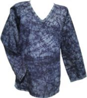 Crackle Dyed Top - Black