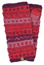 NAYA - hand knit - pattern - wristwarmer - berries