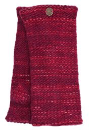 Fleece lined - Fine Wool Mix - wristwarmer  - Raspberry