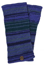 Fully lined - narrow stripe - wristwarmers - blues