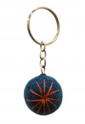 Big Star Keyring - Teal/Orange
