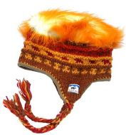 half fleece lined - hairy/patterned - ear flap hat - Assorted