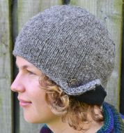 Half fleece lined - helmet hat - Marl Brown