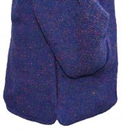 Fleece lined - detachable hood - heather - Blue