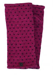 Fleece lined wristwarmer - tick - Berry