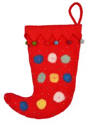 Large fillable - Hand made - felt - Christmas Stocking - Jester