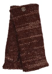 Fleece lined - Fine Wool Mix - wristwarmer  - Brown