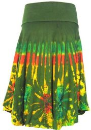 ***SALE*** - Tie dye Midi Skirt - Green