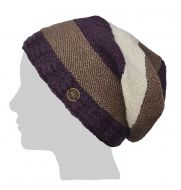 Twisted cable slouch - violet/cream