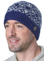 Snow Pattern Beanie - Blue