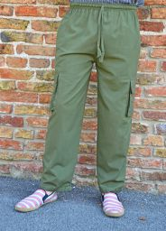 Fine Cotton Combat Trousers - Green