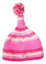 half fleece lined - short tail ridge hat - Pink