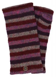 Fleece lined - Wristwarmers - heather mix - berries