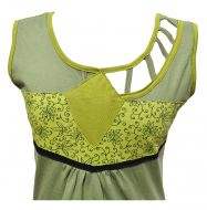 Cut out detail - sleeveless tunic - pale green