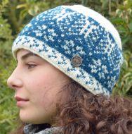 bfb981c0df3a1 Winter Leaf - pure wool beanie - teal